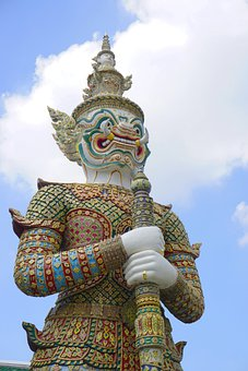 Wat Phra Kaew, Yaksha, Giant, Demon, Guardian, Temple