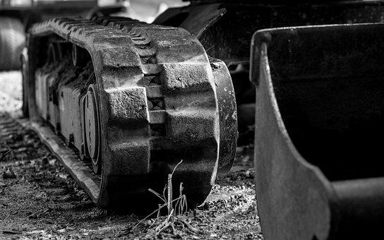 Digger, Excavator, Tracks, Machinery, Equipment