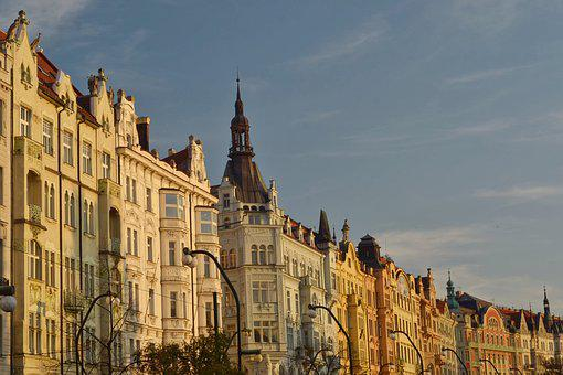 Prague, Houses, The Waterfront, Architecture, Facade