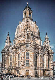 Dresden, Frauenkirche, Architecture, Building, Church