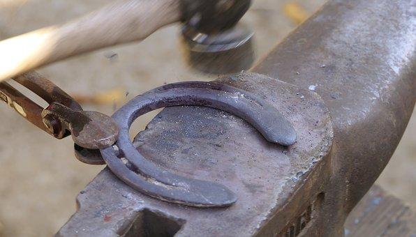 Horseshoe, Anvil, Hammer, Clamp, Farrier, Work, Hot