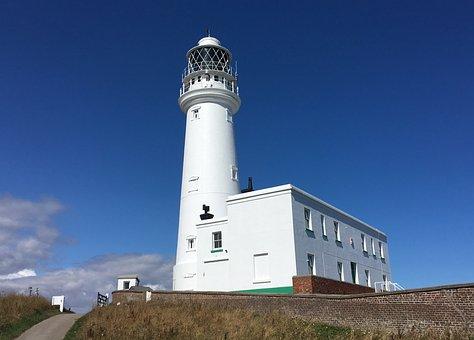 Lighthouse, Seaside, Flamborough, Yorkshire Coast