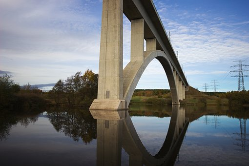 Bridge, Water, Architecture, Lighting, Sky, Reflection