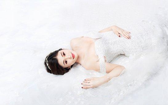 Model, Asian Model, Wedding, Wedding Dress, Girl