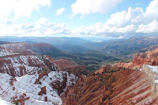 Chessman Ridge, Cedar Breaks, Utah, Nature, Mountains