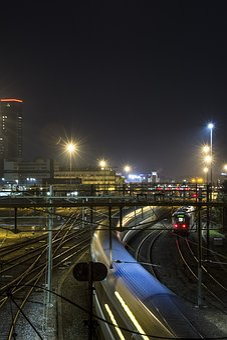 Night, Trains, Railway, Train Station, Railways