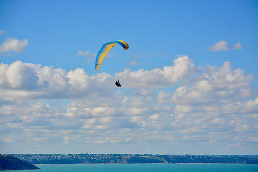 Paragliding, Paraglider, Panoramic Views, Sailing, Wing