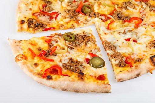 Pizza, Capriciosa, Slice