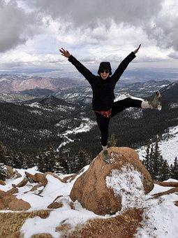 Pike National Forest, Colorado, Yoga, Pose, Mountain