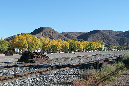 Usa, Railroad, Railway, Mountains, Transportation