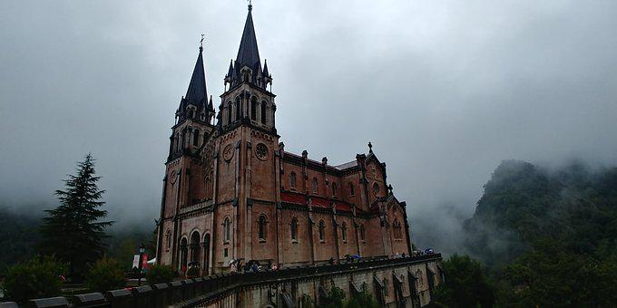 Santuario De Covadonga, Church, Northern Spain
