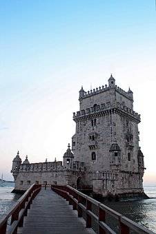 Torre De Belem, Tower, Castle, Portugal, Lisbon, Sea