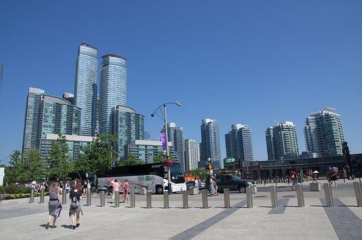 Skyline, Waterfront, Ontario, Toronto, City, Canada
