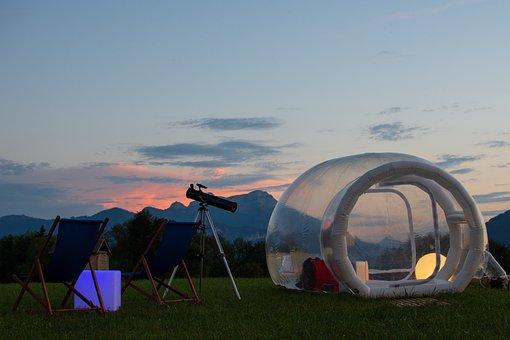 Bubbletent, Sleep, Unusual, Tent, Soap Bubble, At
