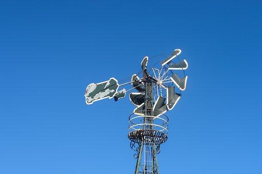 Pinwheel, Windmill, Sky, Blue, Old, Wind, Spain