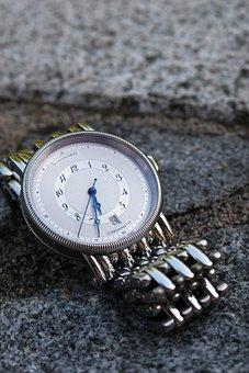 Clock, Chronometer, Silver, Jewellery, Wrist Watch