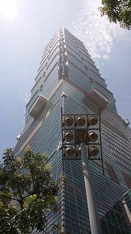 Taiwan, 101, Skyline, Taipei, Urban, Cityscape
