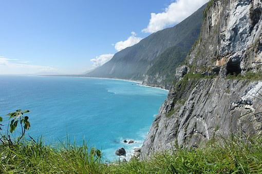 Taiwan, East Coast, Air Circuit Breakers Water Cliff