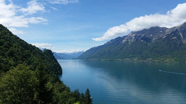 Lake Brienz, Lake, Alpine, Summer, Bergsee, Landscape