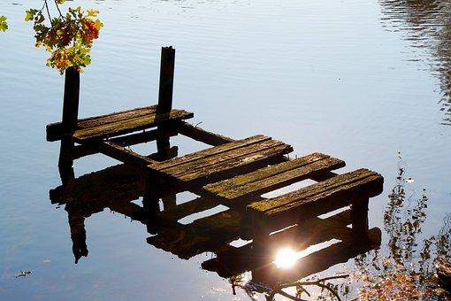 Lake, Autumn, Nature, Water, Mirroring, Bank