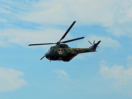Helicopter, Puma Shocked, Aviation, Army, Pilotage