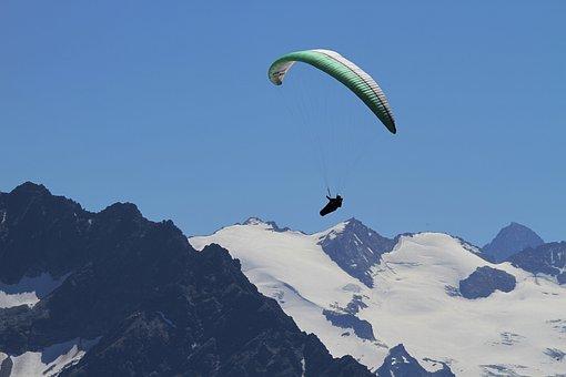 Paragliding, Fly, Paraglider, Berner, Bernese Oberland