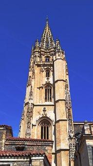 Asturias, Oviedo, Cathedral, Construction, Tower