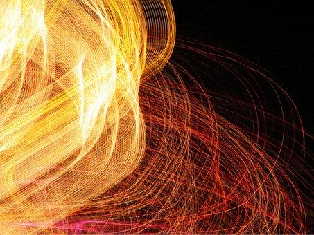 Light, Colour, Swirl, Artistic, Electric, Color, Fire