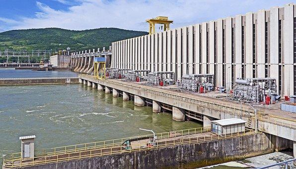 Dam, Iron Gate, Danube, Djerdap1, Romania, Serbia