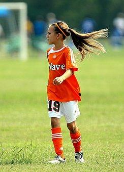 Soccer, Player, Girl, Football, Sport, Game, Field