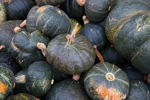 Muscat De Provence, Pumpkins, Green, Large, Vegetables