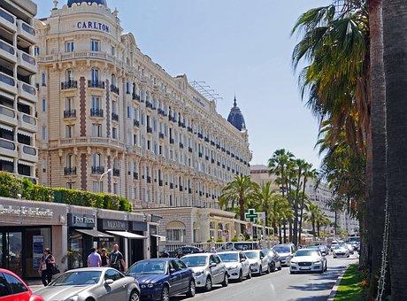 Cannes, Côte D ' Azur, Lake Promenade, Palm Trees