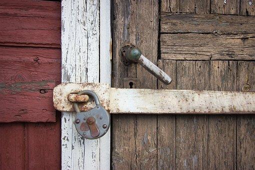 Lock, Door, Latch