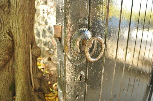 Door, Latch, Lock, Old, Vintage