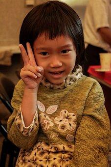 Taiwan, Lukang, Rainbow, Small, Girls, Portrait, Child