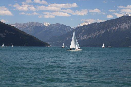 Switzerland, Lake Of Brienz, Mountains, Alpine