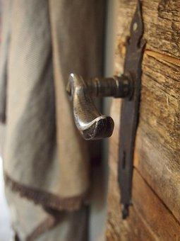 Door, Door Latch, Vacation, Wood, Input, Old