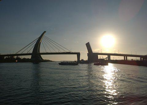 Taiwan, Pingtung, 鵬 灣 Cross-sea Bridge, Hai Bian