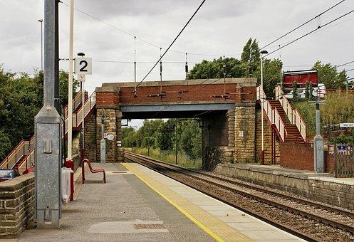 Railroad Tracks, Railway, Bridge, Transport
