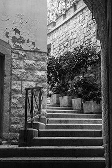 Stairs, Away, Rise, Upward, Gradually, Input