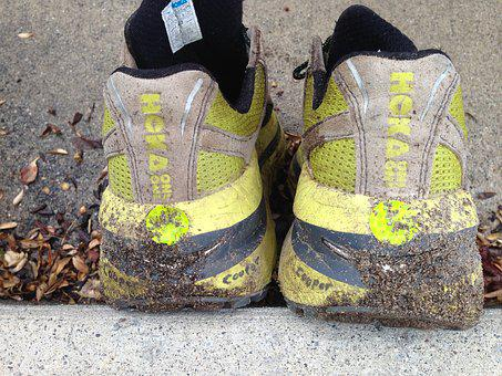 Runner, Shoes, Trail, Sand, Dirty, Sport