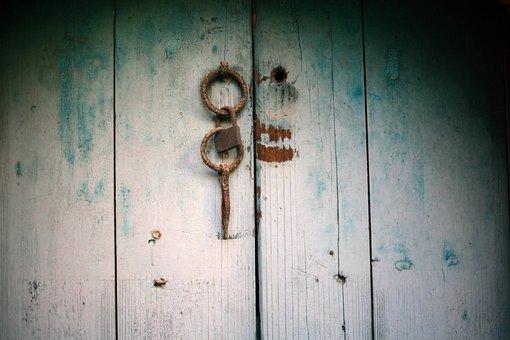 Doors, Door Latch, Rust, Hoop, Lock, Old, Rusty