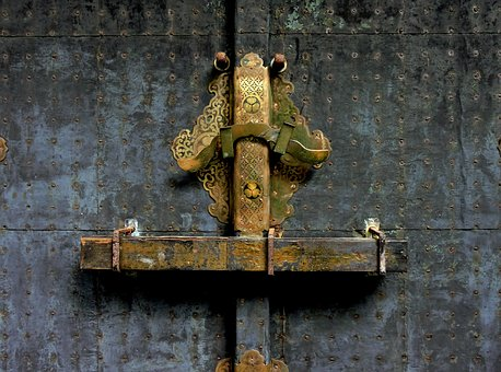 Doors, Lock, Latch, Old, Secure, Privacy, Design