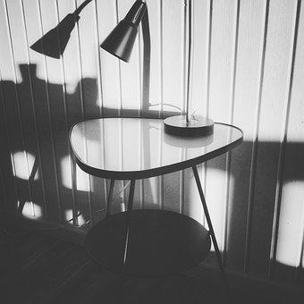 Retro, Lamp, Lighting, Light, Shadow, Metal, Nostalgia