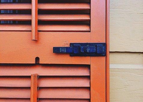 Shutter, Latch, Architecture, House
