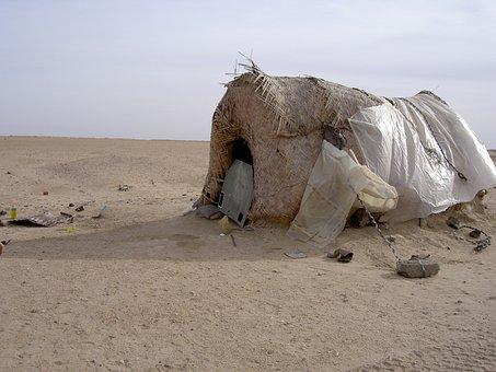 Hut, Desert, Nomad, Blank, Blown, Sand, Siv, Patches