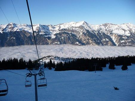 Chairlift, Snow, Winter, Winter Sports, Cold, Skiing