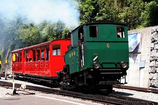 Brienz Rothornbahn, Steam Locomotive, Mountains, Alpine