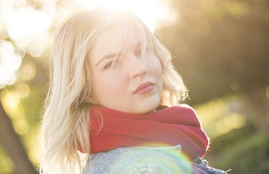 Woman, Girl, Winter, Sunshine, Blonde, Portrait