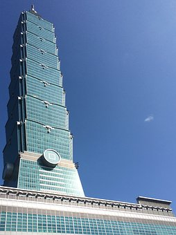 Taipei, Taiwan, Skyscraper, Building, City
